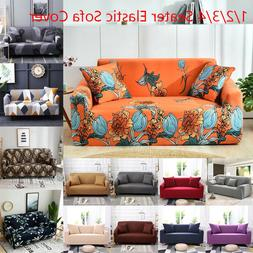 1/2/3/4 Seater Chair Sofa Cover Stretch Fitted Protector Cou