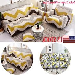 1/2/3/4 Seater Stretch Elastic Geometric Thick Sofa Cover Sl
