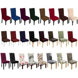 1/4/6pcs Stretch Spandex Dining Chair Seat Covers Jacquard V