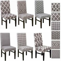 1/4/6x Dining Room Chair Seat Cover Slipcover Spandex Stretc