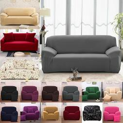 1-4 Seats Slipcover Sofa Cover Living Room Spandex Stretch C
