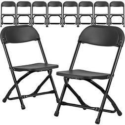 Flash Furniture 10 Pk. Kids Black Plastic Folding Chair