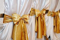 Spring Rose Gold Wedding Satin Chair Sashes. These Are a Won