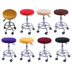 11-14'' Elastic Bar Stool Covers Round Chair Seat Cover Cush