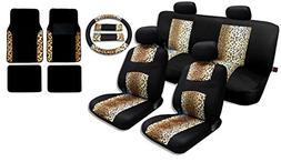 Unique Imports 17 Piece Animal Print Seat Covers and Two Ton