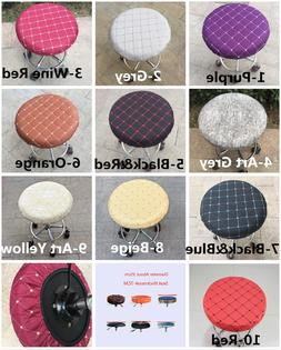 "1Pc 14"" Bar Stool Covers Round Chair Seat Cover Cushions Sle"