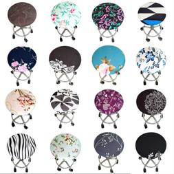 1Pc Bar Stool Covers Round Chair Seat Cover Cushions Sleeve