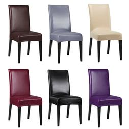 2/4/6/8Pcs Faux Leather Stretch Dining Chair Cover Slipcover