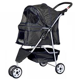 2 Dog Stroller Pet for Small Double A Best Black Cat Two Chi