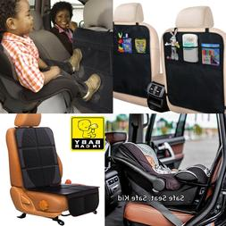 2-IN-1 Kick Mat For Car Auto Back Seat Cover Kid Care Organi
