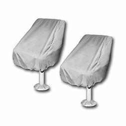 WOMACO 2 Pack Boat Seat Cover, Outdoor Waterproof Pedestal P