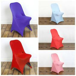 25 pcs Spandex Fitted Folding CHAIR COVERS for Wedding Recep