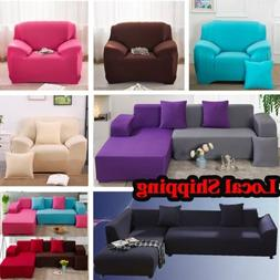 2PC High Quality Stretch L-shaped Couch Sectional Sofa Cover
