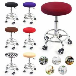 2Pcs Bar Stool Covers Round Stretch Chair Seat Cover Cushion