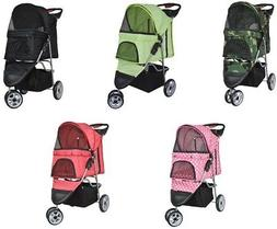 VIVO 3 Three Wheel Pet Stroller / Cat & Dog Foldable Carrier