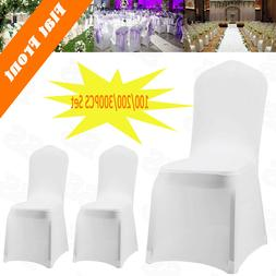300PCS White Spandex Lycra Chair Covers For Wedding Party Ev