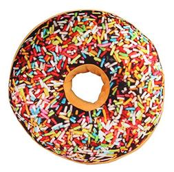3D Chocolate Rainbow Icing Sugar Donut Soft Cushion Pillow S