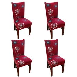 4 Pack Chair Cover for Dining Room Wedding Banquet Stretch S