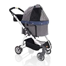 ibiyaya 4 Wheel Dog Stroller for Dogs – 3-in-1 Carrier Bas