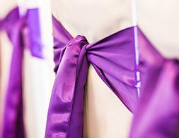 Spring Rose 50 Purple Wedding Satin Chair Sashes. These Are