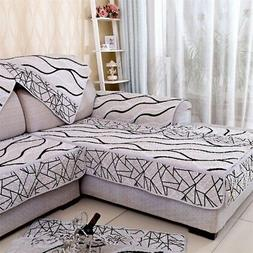 90cm*90cm Striped Sofa Cover Slipcover Fabric Couch Sectiona
