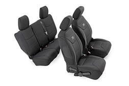 Rough Country 91002A Black Neoprene Seat Cover  for 08-10 Je