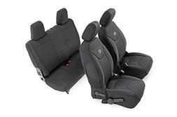Rough Country 91007 Black Neoprene Seat Cover  for 13-18 Jee