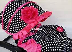 Infant Carseat Canopy Cover 4pc Whole Caboodle Baby Car Seat