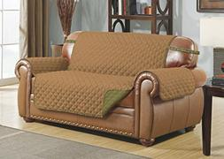 Linen Store Quilted Reversible Microfiber Pet Dog Couch Furn