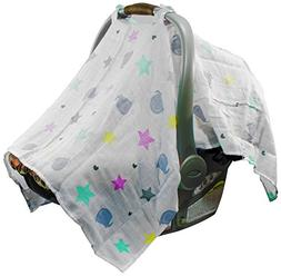 Mum n Me Baby Car Seat Cover; Organic Cotton Muslin, Suitabl