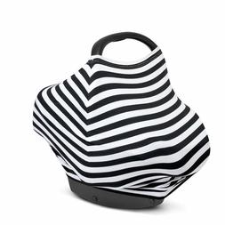 MyM Stretchy Multi-Use Baby Car Seat Cover, Nursing Cover, H