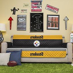 Pegasus Home Fashions NFL Pittsburgh Steelers Sofa Couch Rev