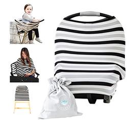 Nursing Breastfeeding Cover Scarf - Baby Car Seat Canopy , S