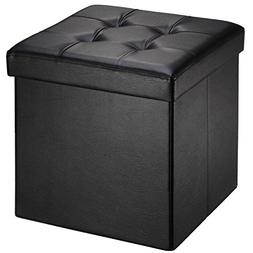Ollieroo Faux Leather Folding Storage Ottoman Bench Foot Res