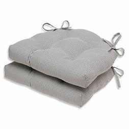 Pillow Perfect Oxford Charcoal Reversible Chair Pad