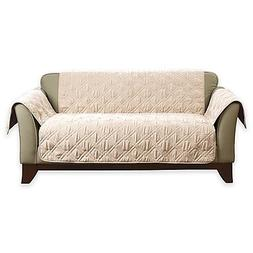 Sure Fit® Deluxe Non-skid Waterproof Loveseat Cover in Crea