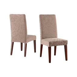 SureFit Stretch Jacquard Damask - Shorty Dining Room Chair S