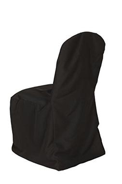 Your Chair Covers - Polyester Banquet Chair Covers Black, Fi
