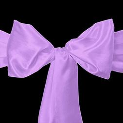 Spring Rose Lavender Wedding Satin Chair Sashes. These Are a