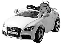 Kid Motorz Audi Tt Rs White One Seater Car, White