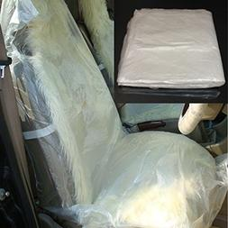 Auto Disposable Clear Plastic Seat Covers Protector Mechanic