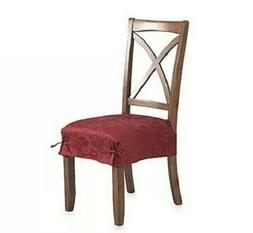 Autumn Scroll Damask Seat Covers Set Of 4 in Wine Red Burgun