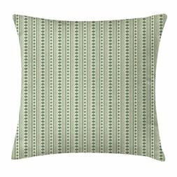 Aztec Throw Pillow Cushion Cover by Ambesonne, Vertical Nati