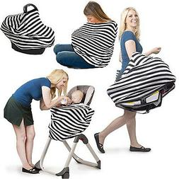 Baby Car Seat Canopy 4in1 Universal Stretchy Nursing Cover W