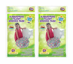 Mighty Clean Baby Disposable Toilet Seat Covers, 24 Count