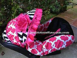 baby girl black pink infant car seat cover canopy cover fit