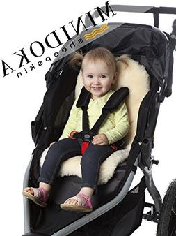 Lambskin Stroller Liner/Seat Cover/Naturally Breathable for