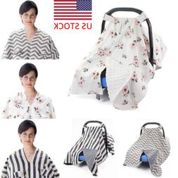 Baby Stroller Pram Car Seat Cover Blanket Breathable Muslin