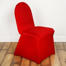10 pcs Banquet Spandex Stretchable Chair Covers - Red