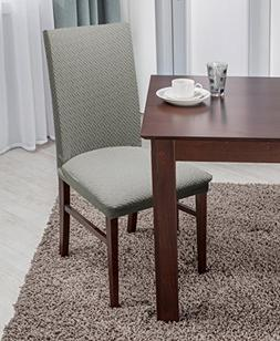 Linen Store Basket Weave Texture Dining Chair Cover, Stretch